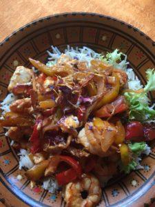 Glutenvrije garnalen en rijst venetië