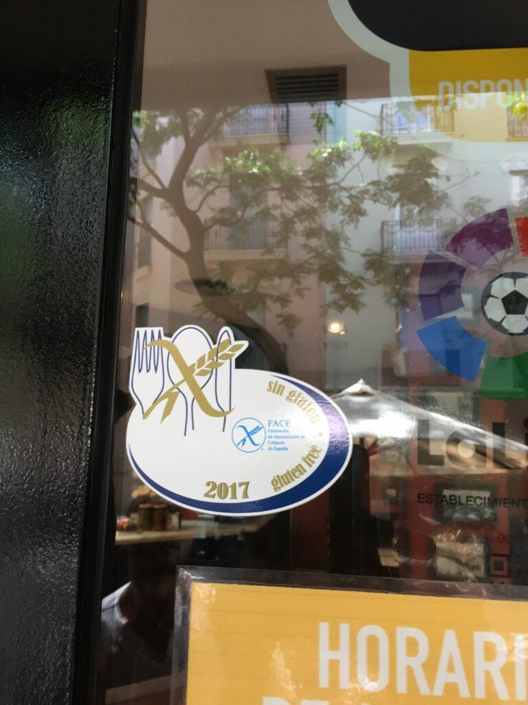 Spanje glutenvrije logo