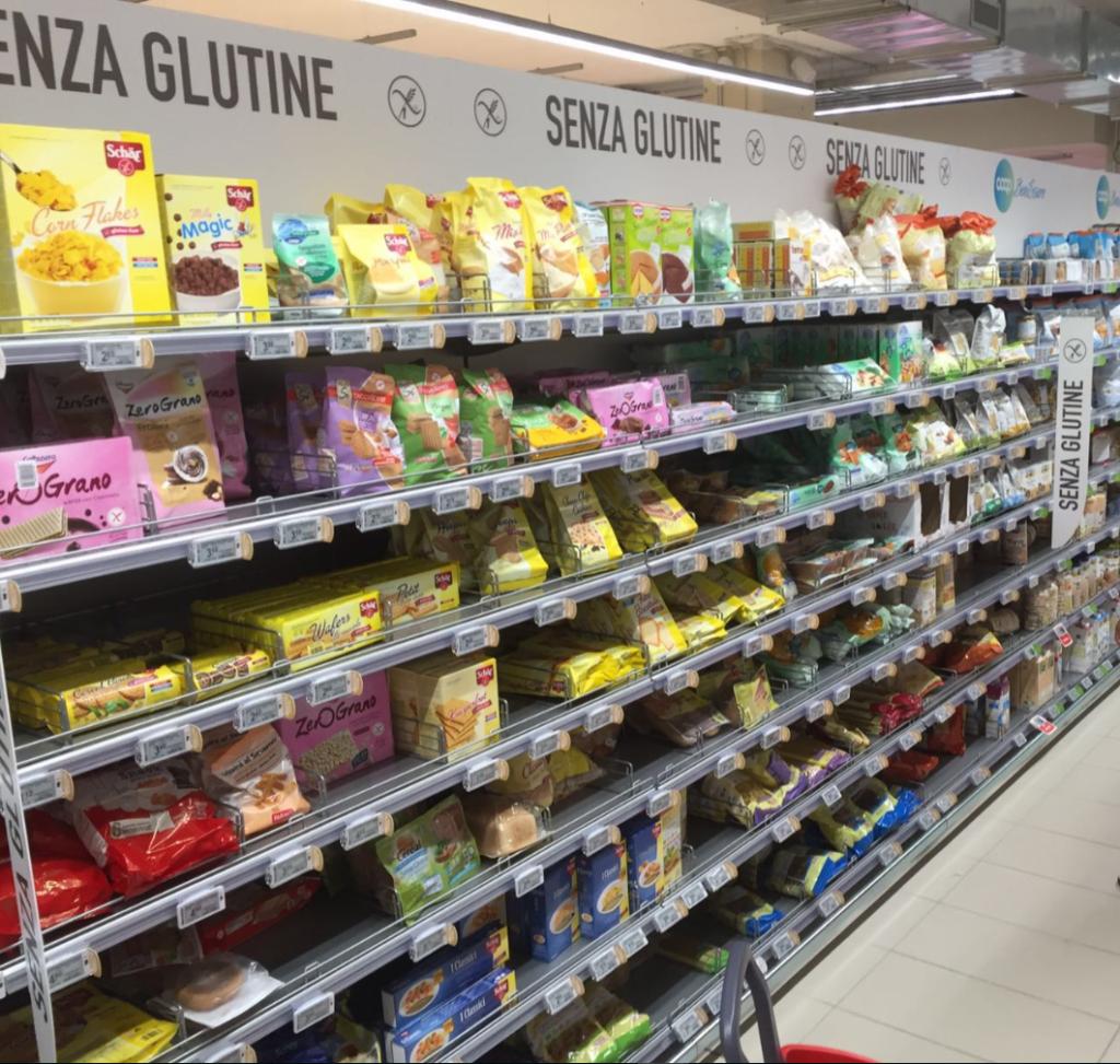 Glutenvrije supermarkt Coop Italië
