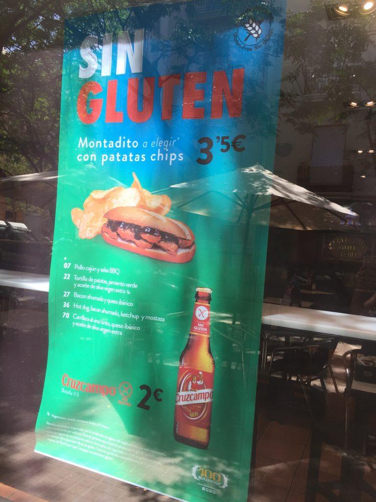 Glutenvrij eten Valencia