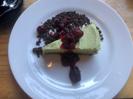 Glutenvrije cheesecake Checkpoint Edinburgh Schotland