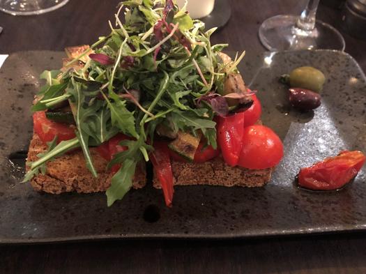 Glutenvrij voorgerecht Italiaans Edinburgh Schotland