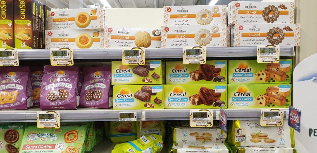 Glutenvrije eten italië supermarkt